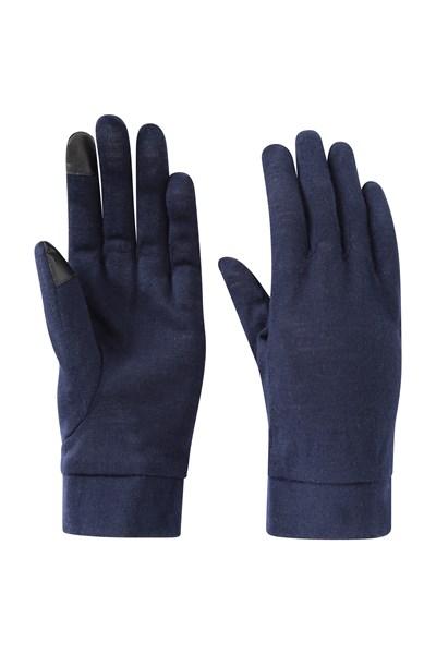 Merino Womens Gloves - Navy
