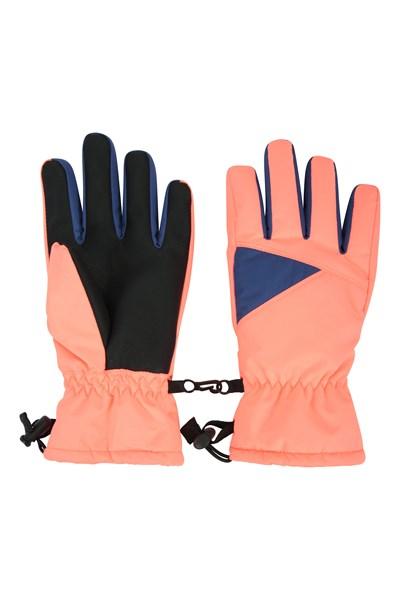Kids Waterproof Ski Gloves - Pink