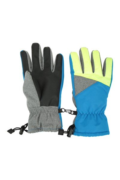 Kids Waterproof Ski Gloves - Yellow