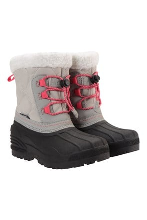 Arctic Fur Trim Junior Waterproof Snow Boots