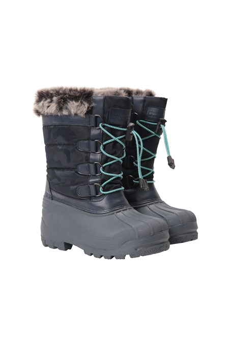 031951 ALASKA KIDS FUR TRIM THINSULATE SNOWBOOT