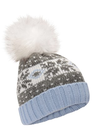 Thinsulate Fairisle Womens Pom Pom Beanie