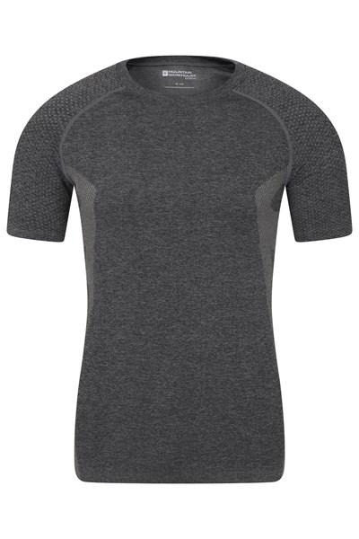 Seamless Baselayer Mens T-Shirt - Black