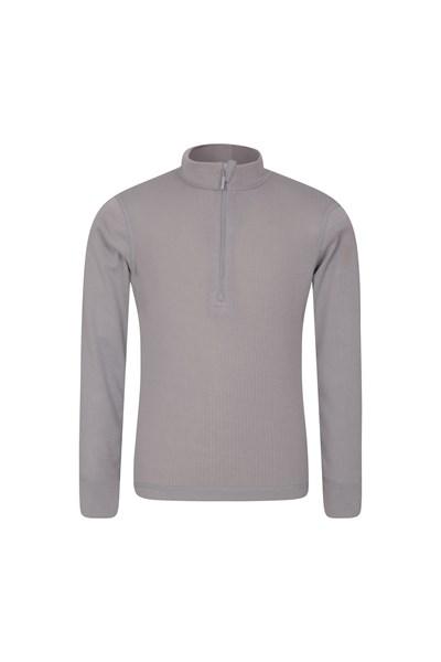 Talus Kids Zip Neck Base Layer Top - Grey
