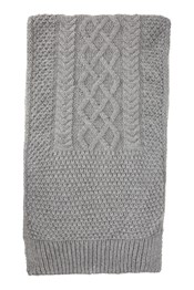Mens Cable Knit Scarf
