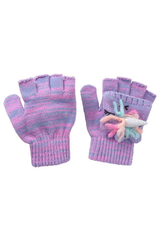 Girls 2 in1 Unicorn Gloves 2 Pack