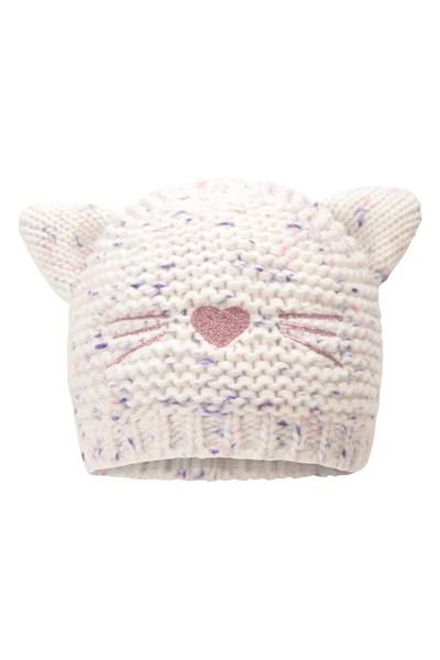Cat Fleece Junior Hat - Pink