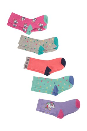032036 CHARACTER KIDS ANKLE SOCK 5 PACK