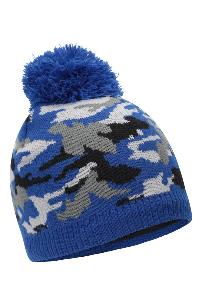 Heat Holders Childrens Fleece Lined Waterproof Ski Trapper Hat For Cold Weather