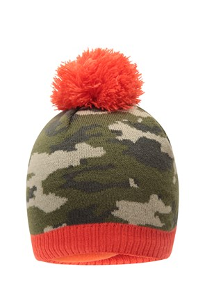 Camo Fleece Kids Beanie