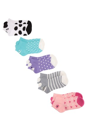032039 CHARACTER KIDS TRAINER SOCKS 5PK