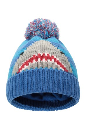 Shark Fleece Lined Junior Beanie