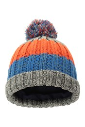 Colour Block Reflective Kids Beanie