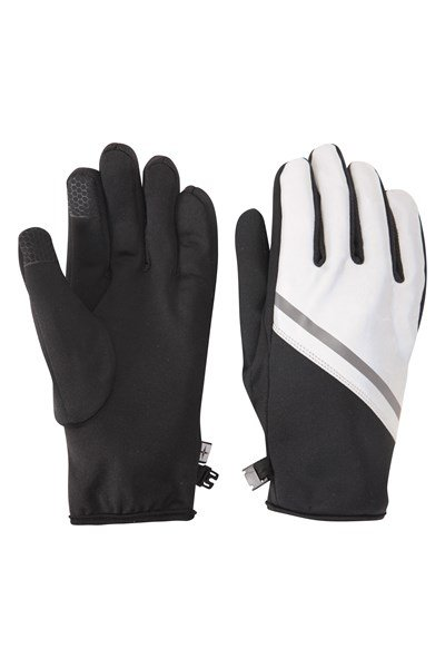 Active Reflective Mens Windproof Gloves - Black