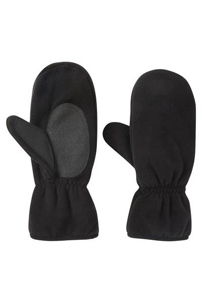 Mens Fleece Mittens - Black