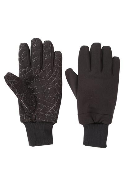 Mens Waterproof Grippi Gloves - Black