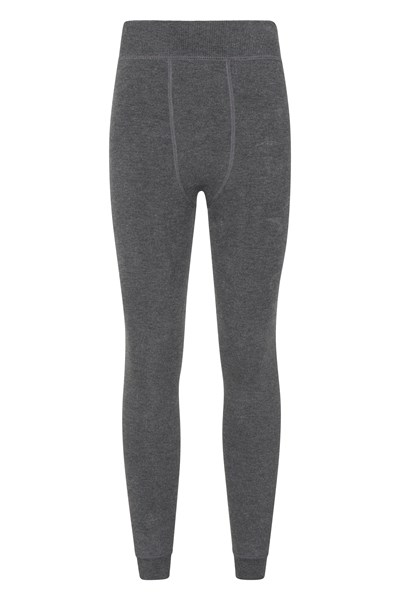 Womens Fluffy Fleece Lined Leggings - Grey