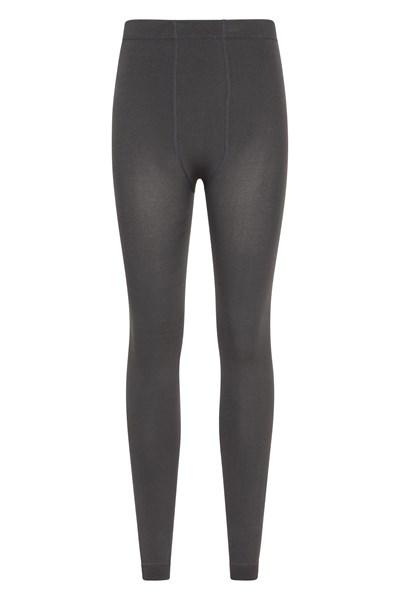 Womens Fluffy Fleece Lined Thermal Leggings - Grey