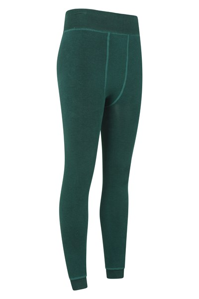 Womens Fluffy Fleece Lined Leggings - Green