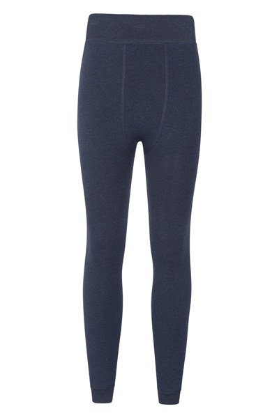 Womens Fluffy Fleece Lined Leggings - Navy