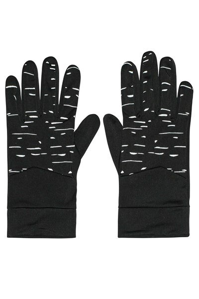 Illuminate Mens Stretch Running Gloves - Black
