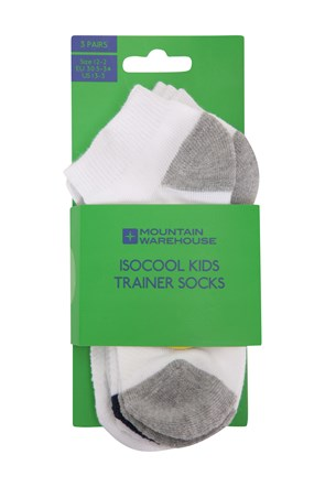 032170 ISOCOOL KIDS TRAINER SOCKS 3PK