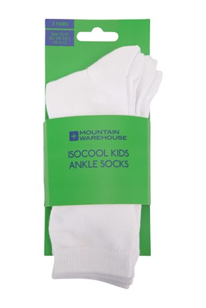 032171 ISOCOOL KIDS ANKLE SOCKS 3PK