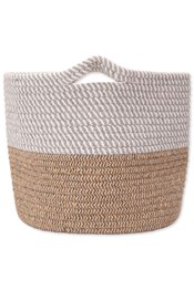 Woven Two Tone Storage Basket