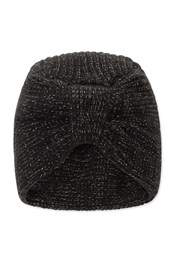 Neon Sheep Knitted Knot Glitter Beanie