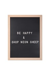 Neon Sheep Wooden Letter Board