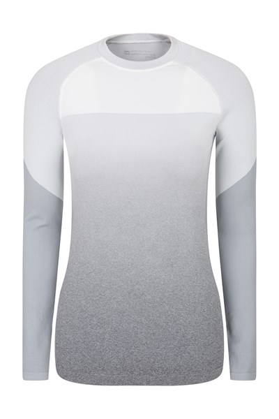Off-Piste Womens Ombre Thermal Top - Grey