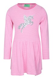 Daisy Stripes Unicorn Kids Dress