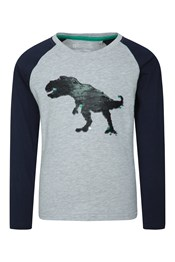 Sequin Dino Kids Top