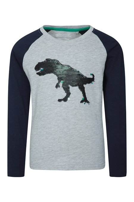 034288 LS SEQUIN DINO KIDS TEE