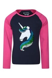 Unicorn Hair Pailetten Kinder Top