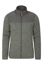 Idris Panelled Mens Full-Zip Fleece