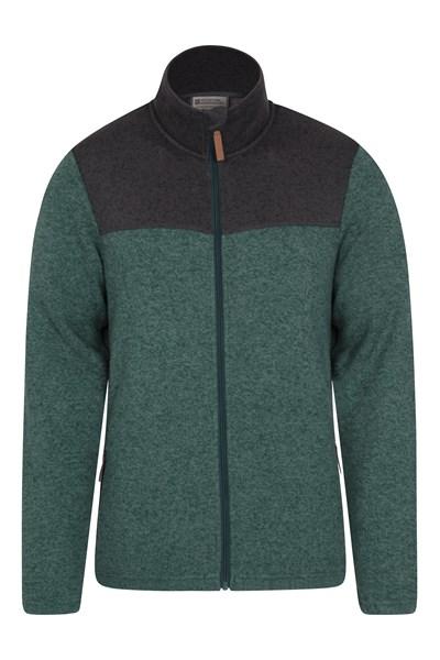 Idris II Mens Full-Zip Fleece Jacket - Green