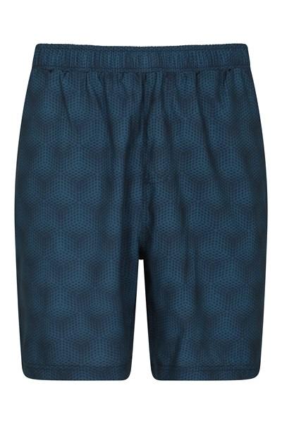 Hurdle Printed Mens Running Shorts - Dark Grey