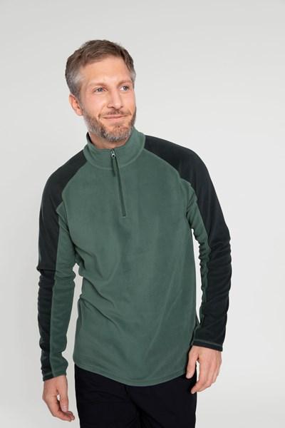 Ashbourne Mens Half-Zip Fleece - Green