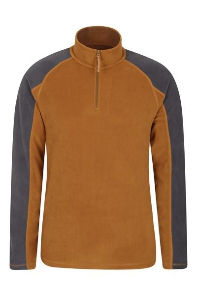 Ashbourne Mens Half-Zip Fleece - Yellow