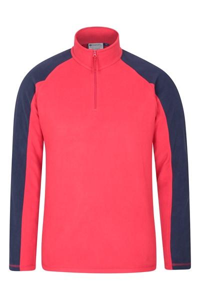 Ashbourne Mens Half-Zip Fleece - Red
