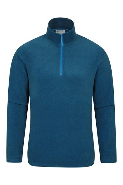 Hebridean Mens Half-Zip Fleece - Blue