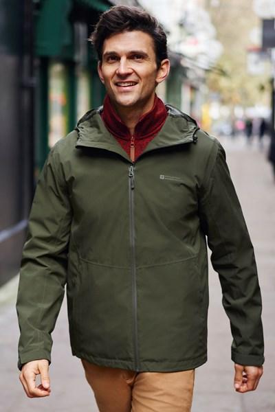 Covert Mens Waterproof Jacket - Green