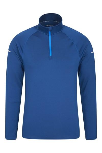 Kilo Mens Half Zip Top - Blue