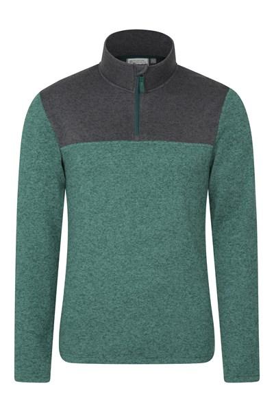 Idris Mens Half-Zip Fleece - Green
