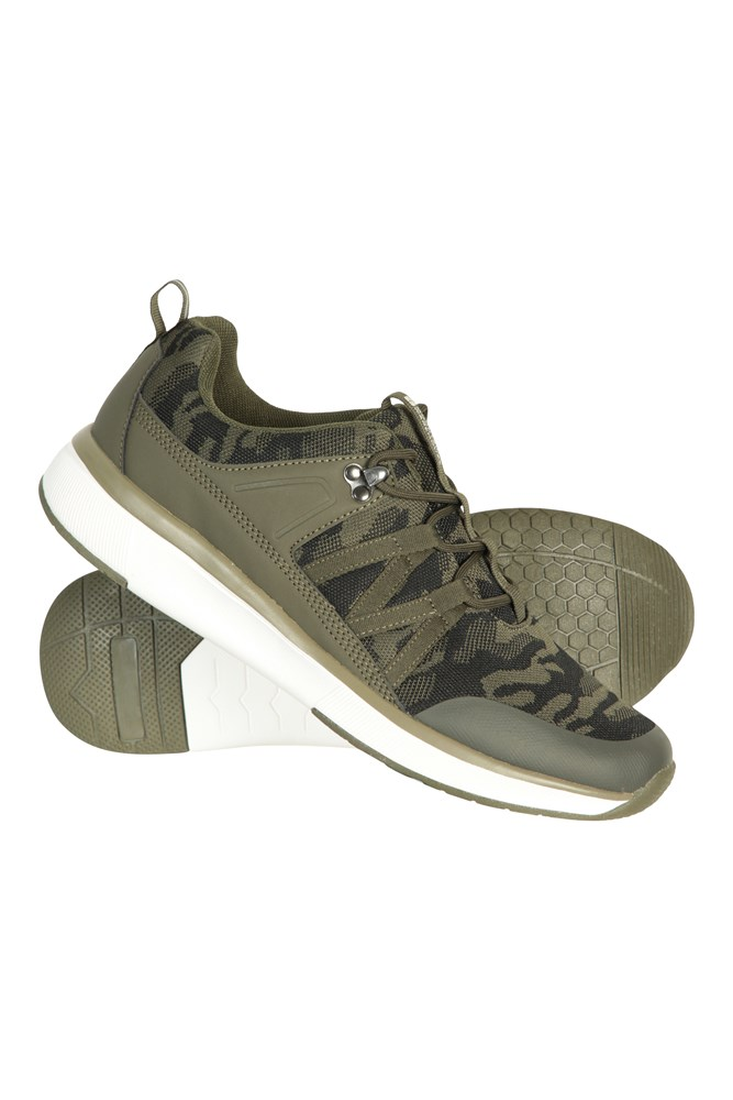 Camo Mens Knit Trainers | Mountain