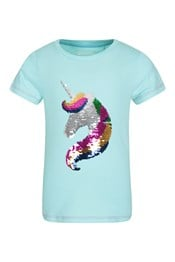Sequin Unicorn Hair Kids T-Shirt