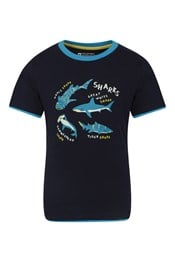 Glow In The Dark Shark Kids T-Shirt