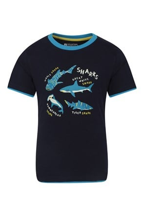 Glow In The Dark Shark Kids Tee