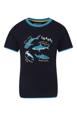 Camiseta Glow in the Dark Shark Info Niños